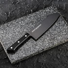 Нож кухонный Samura SHADOW, лезвие 17,5 см, с покрытием BLACK-COATING