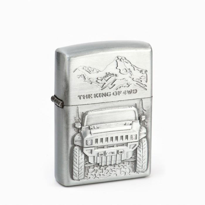 Зажигалка «Джип» в подарочной коробке, кремний, цвета МИКС