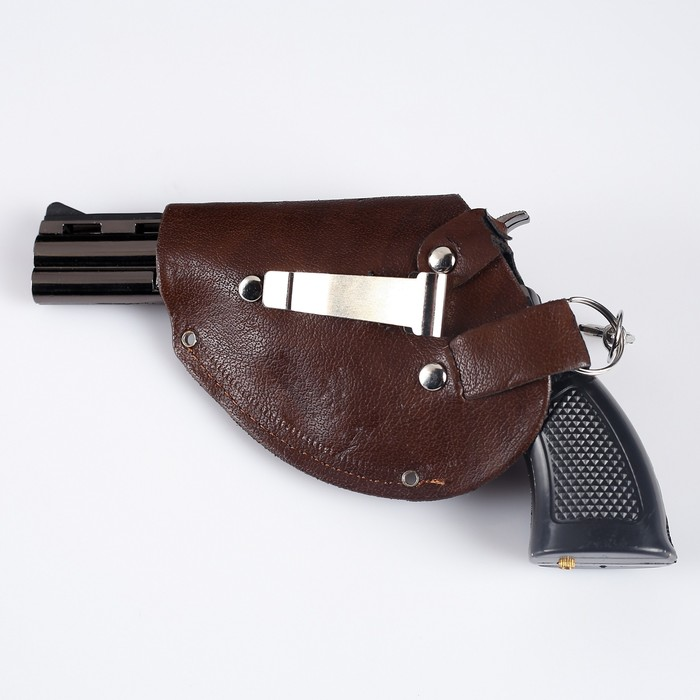 Зажигалка «Револьвер в кобуре», пьезо, газ