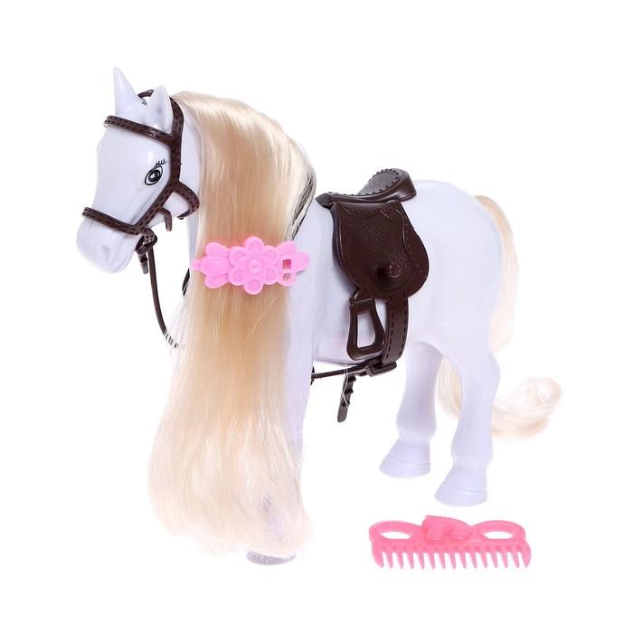"""Лошадка для куклы """"Снежинка"""" с аксессуарами, цвета МИКС"""