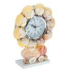 Часы настольные серия Ракушки Солнечный пляж летом 15*20см