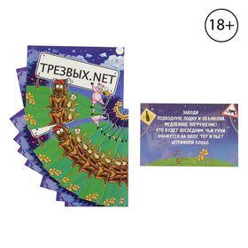 Игра вопрос-ответ 'Трезвых.net 2-й уровень', (набор 10 карточек) 15,5х10 см Ош
