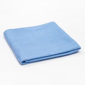 Плед вафельный, размер 110х140 см, 240 гр/м, цвет нежно-голубой Ош