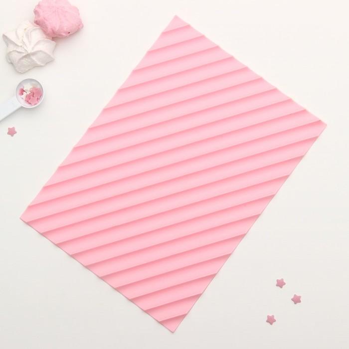 """Коврик рельефный """"Полосы"""", цвет розовый"""