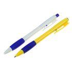 Ручка шариковая авт 0,5мм стержень синий корпус МИКС с резиновым держателем