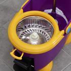 Набор для уборки: ведро на ножках с педальным отжимом и металлической центрифугой 8,5 л, швабра, запасная насадка из микрофибры, цвет МИКС - фото 4644040