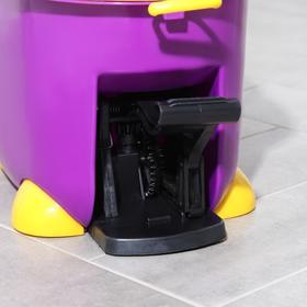 Набор для уборки: ведро на ножках с педальным отжимом и металлической центрифугой 8,5 л, швабра, запасная насадка из микрофибры, цвет МИКС - фото 4644041