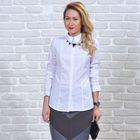 Рубашка женская классическая, размер 50, рост 164 см, цвет белый