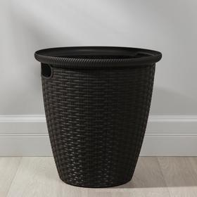 Кашпо со вставкой напольное «Ротанг», 20 л (11 л), цвет венге