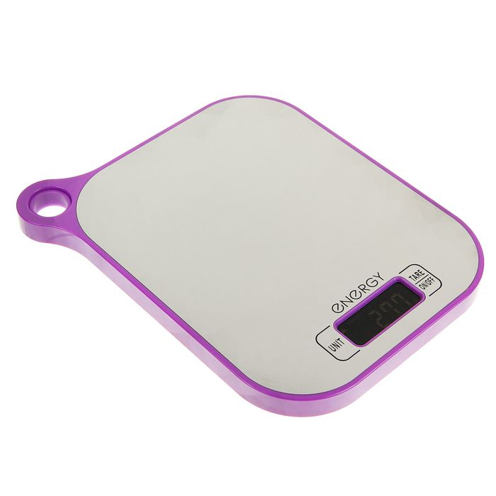 Весы кухонные электронные ENERGY EN-411, до 5 кг, фиолетовые