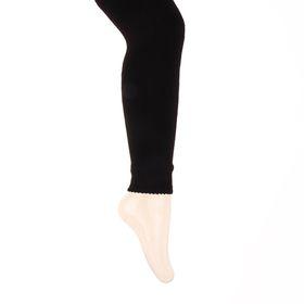 Легинсы детские шерстяные плюшевые ЭЛ88, цвет чёрный, рост 128-134 Ош
