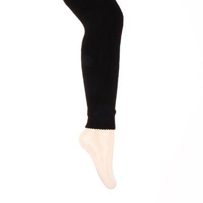 Легинсы детские шерстяные плюшевые ЭЛ88, цвет чёрный, рост 140-146
