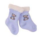 Носки детские плюшевые, цвет голубой, размер 4-6 (0-3 мес)