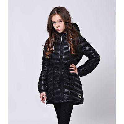 """Куртка-парка  для девочки """"Каролина"""", рост 134 см, цвет чёрный 21-151/1"""