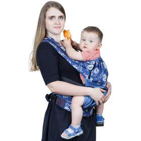 """Слинг-рюкзак """"Бебимобиль Стиль"""", цвет синие цветы РБМ03-003"""