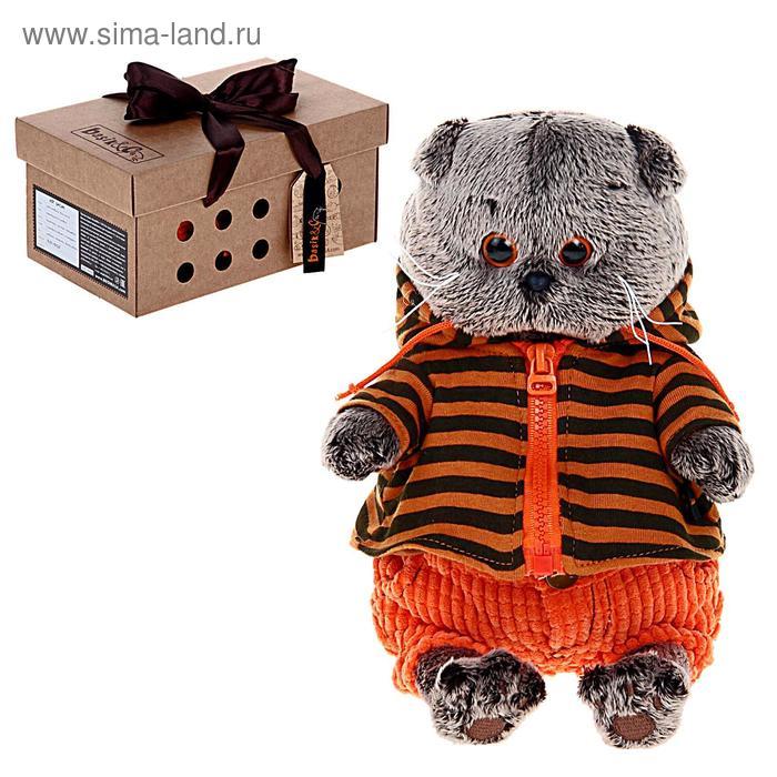 """Мягкая игрушка """"Басик"""" в штанах и полосатой кофте, 22 см"""