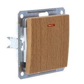 """Переключатель """"W59"""" SchE VS616-157-8-86, 16 А, 1 клавиша, скрытый, с индикатором, цвет бук"""