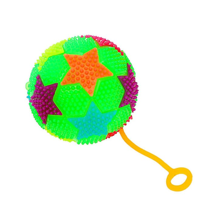 Мяч световой «Звёздочки», с пищалкой, цвета МИКС