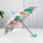 "Umbrella baby semi-automatic ""Cute little animals"", r=41cm, with whistle, color MIX"