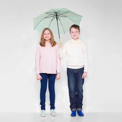 """Зонт детский полуавтоматический """"Однотонный"""", r=41см, цвет зелёный"""