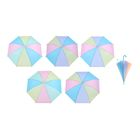 "Umbrella baby semi-automatic ""rainbow pastel"", r=46cm, MIX color"
