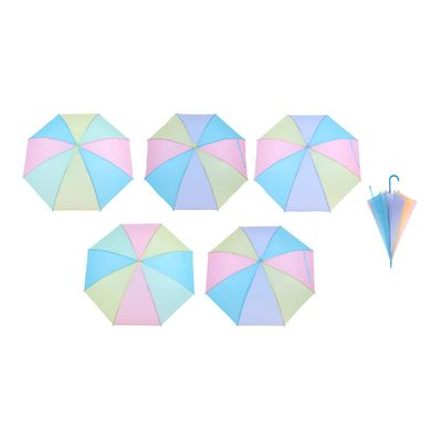 "Umbrella baby semi-automatic ""rainbow pastel"", r=46cm, MIX color"