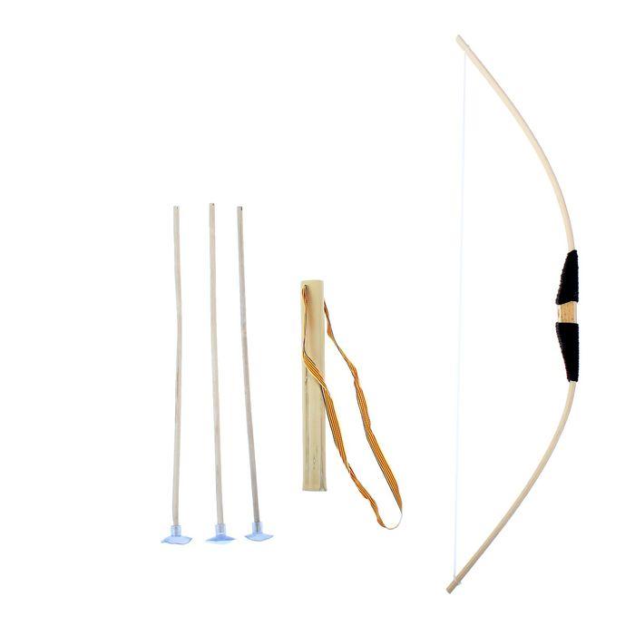 Лук большой, 3 стрелы с присосками, колчан