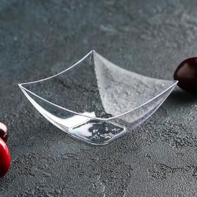 Buffet form 90 ml Square, 7x7 cm, transparent color, set of 25 pcs.