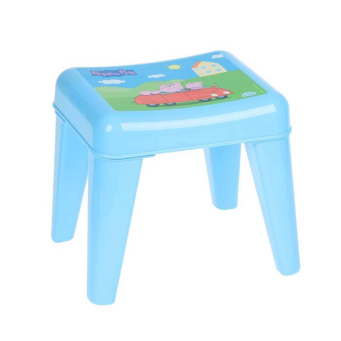 Детский табурет-подставка «Я расту. Свинка Пеппа», цвет голубой