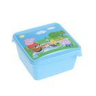 Ланч-бокс Mini «Свинка Пеппа», 450 мл, цвет голубой