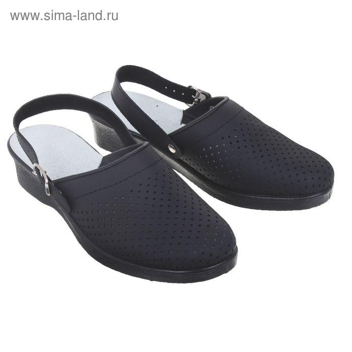 """Туфли-сабо """"Эмануэла"""", женские, размер 40, цвет черный"""