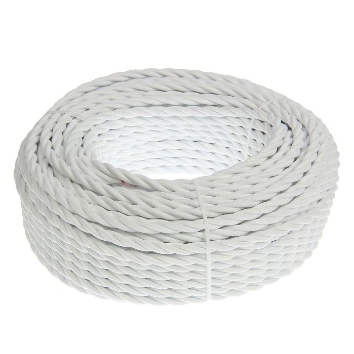 Провод Bironi, 3*2 ,5, витой, белый  1шт-50м