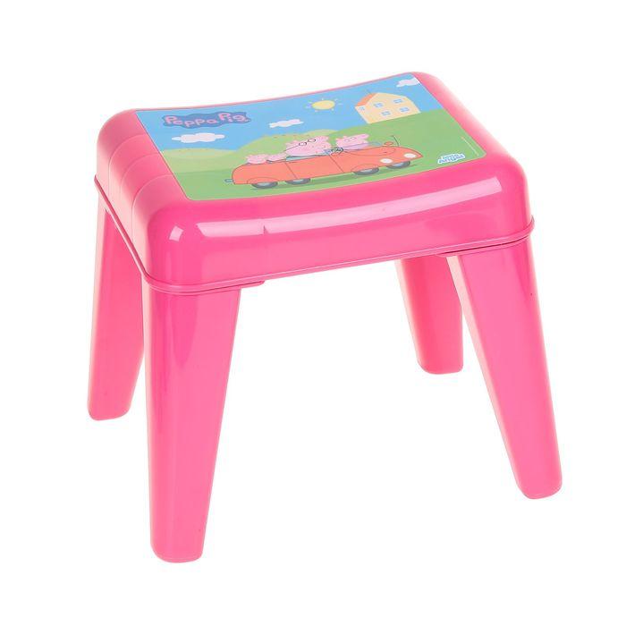 Детский табурет-подставка «Я расту. Свинка Пеппа», цвет розовый