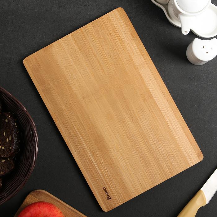 Доска разделочная 30х20х1 см, бамбук