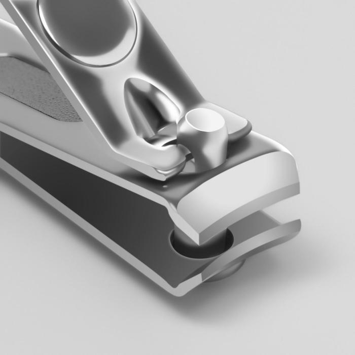 Кусачки-книпсер маникюрные, с пилкой, 5,5(±0,5)см, цвет МИКС
