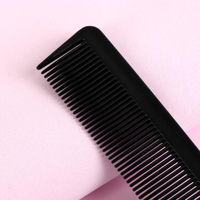 Расчёска с металлическим хвостиком, цвет чёрный