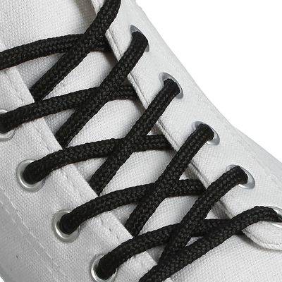 Шнурки для обуви круглые, d=4мм, 80см, цвет чёрный