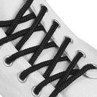 Шнурки для обуви круглые, d=4мм, 100см, цвет чёрный
