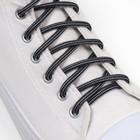 Шнурки для обуви круглые, d=4,5мм, 110см, цвет чёрно-серый