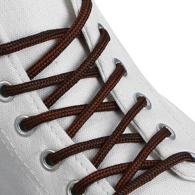 Шнурки для обуви круглые, d=4,5мм, 120см, цвет чёрно-коричневый