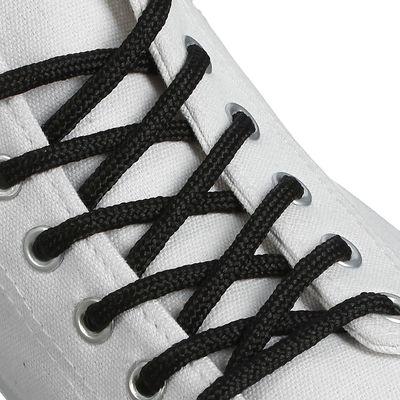 Шнурки для обуви круглые, d=4мм, 120см, цвет чёрный