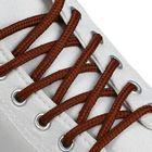 Laces Shoe round, d=4.5 mm, 120cm, color brown