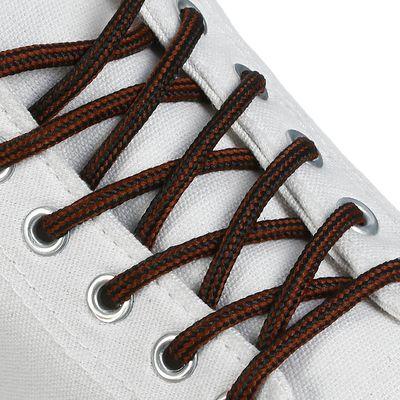 Шнурки для обуви круглые, d=4,5мм, 130см, цвет чёрно-коричневый