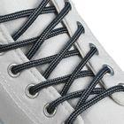 Шнурки для обуви круглые, d = 4,5 мм, 130 см, пара, цвет чёрно-серый