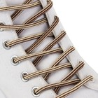 Шнурки для обуви круглые, d = 4,5 мм, 130 см, цвет коричнево-бежевый