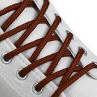 Шнурки для обуви круглые, d = 4,5 мм, 130 см, пара, цвет коричневый