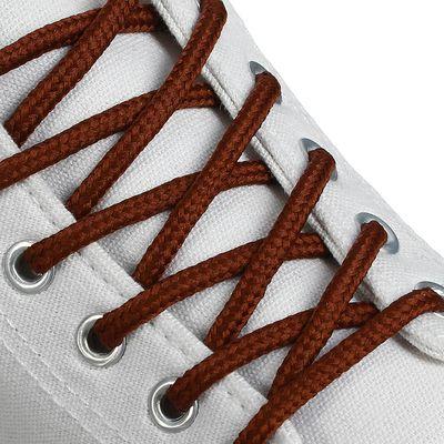 Шнурки для обуви круглые, d=4,5мм, 130см, цвет коричневый