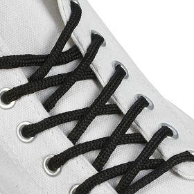 Шнурки для обуви круглые, d = 4,5 мм, 150 см, пара, цвет чёрный Ош
