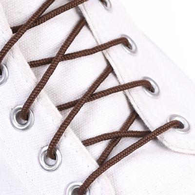 Шнурки для обуви, d = 3 мм, 60 см, пара, цвет коричневый