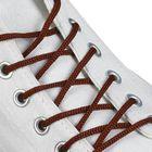 Шнурки для обуви круглые, d=3мм, 70см, цвет коричневый